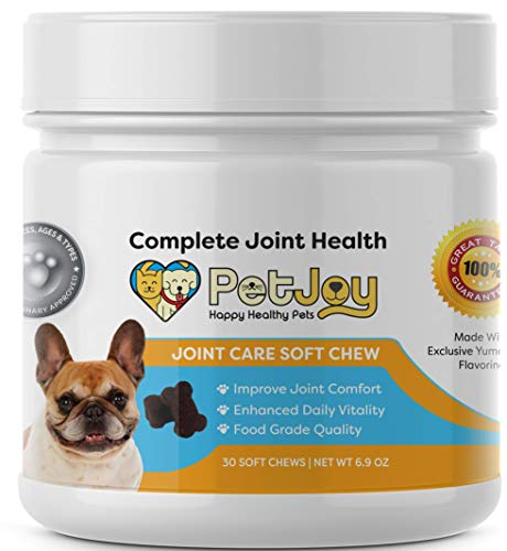 PetJoy Complete Hip and Joint Care Health Daily Soft Chews Key Ingredients Glucosamine HCI, MSM,...