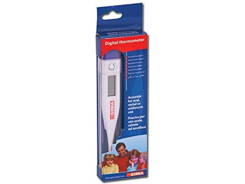 Gima - Termometro Digitale, °C, precisione ± 0.1°C, Memoria Ultima Lettura, Allarme Acustico, Spegnimento Automatico