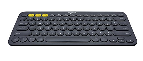 Logitech K380 Kabellose Bluetooth-Tastatur, Multi-Device & Easy-Switch Feature, Windows- und Apple-Shortcuts, PC/Mac/Tablet/Handy/Apple iOS+TV, Holländisches QWERTY-Layout - schwarz