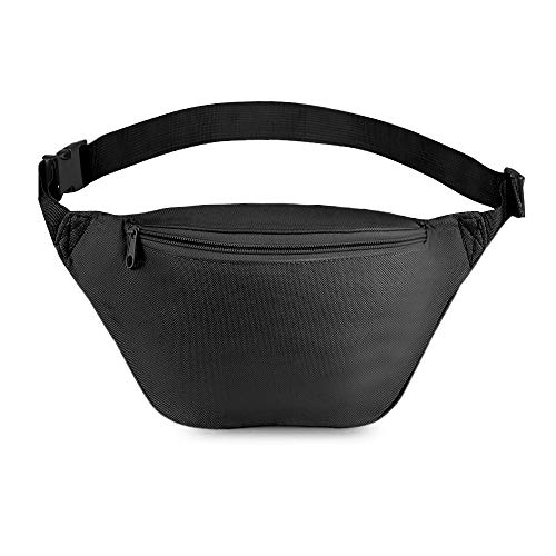 Zip Running Fanny Pack for Women and Men,Canvas Waist Bag with Adjustable Strap for Outdoors Workout...