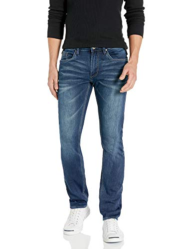 Buffalo David Bitton Herren Max-X Skinny Fit Denim Pant Stretch Basic Jeans, Indigo, 34W / 30L