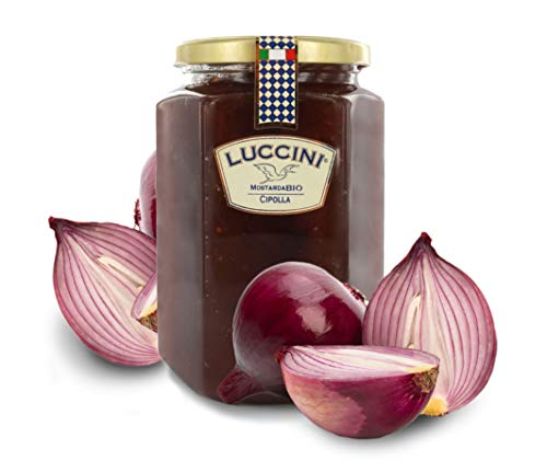 Luccini Mostarda Handwerkskunst aus Zwiebeln, 950 g, Mostarde – Früchte höchster Qualität