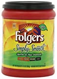 Folgers Simply Smooth Coffee, Medium Roast Ground Coffee, 11.5 Ounces, 6 Count