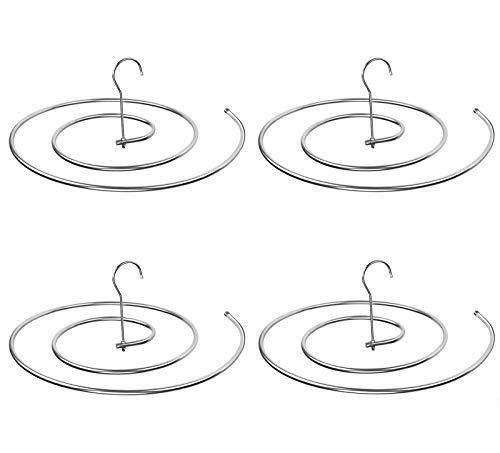 Desirable ステンレス製 スパイラルハンガー シーツ用ループハンガー ハンガー ダブルサイズ 多機能 便利 省スペース 洗濯物干し 室内や屋外でもOK 15KGまで 丈夫 収納 錆びにくい (4本セット)