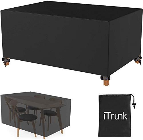 iTrunk Fundas para Muebles de Jardín Impermeable (600D Oxford, 250 x 210 x 90cm) Funda Protectora para Exterior Muebles Mesas Sillas Sofás, con Ventilación de Aire Oculta- Negro