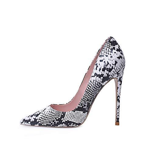 High Heel, 12cm / 4.72 Zoll Stiletto High Heel Schuhe für Frauen Spitz Party Abendkleid Pumps Prom WE 42