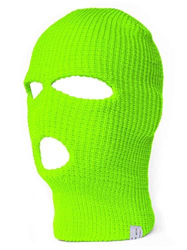 TopHeadwear Pasamontañas de esquí, 3agujeros (más colores) verde verde neón