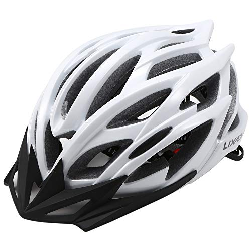 Lixada Casco da bicicletta sicurezza sport della bici con visiera - Integrated Mountain Bike Bicycle Riding Helmet - 25 Vents doppio In-Mould per Casco Bici Adulto 58~62cm