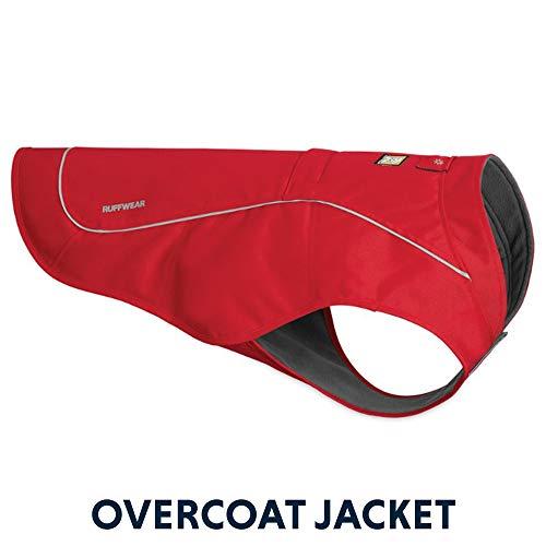Ruffwear Widerstandsfähige Hunde-Jacke mit Fleece-Innenfutter, Große Hunderassen, Größe: L, Rot (Red Currant), Overcoat