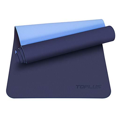 TOPLUS Preumium Yogamatte aus hochwertigen TPE, rutschfest Yogamatte Gymnastikmatte Übungsmatte Sportmatte für Yoga, Pilates,Fitness usw.- Maße 183cm Länge 61cm Breite (2020