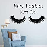 Hwhz 34X59 cm Eyelashes Makeup Quote Lashes Decor Mascara Decal Beauty Salon Cosmetics