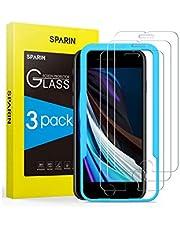 SPARIN 3 Pack Protector de Pantalla Compatible con iPhone SE 2020, iPhone 8, iPhone 7 y iPhone 6s, Sin Cobertura Toda, Cristal Templado con Marco de Alineación