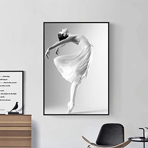 KWzEQ Dancing girl ballet posters and prints Nordic poster pictures wall art canvas paintings,Frameless painting,60X90cm