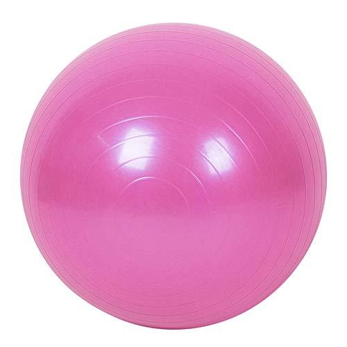 ENticerowts - Pelota de gimnasia (45 cm, antipinchazos, con bomba de mano, para uso doméstico, en el gimnasio, en la oficina, para embarazo, nacimiento y pérdida de peso) rosa