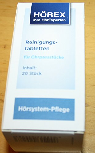 Desifizierende Reinigungstabletten für HdO-Ohrstücke