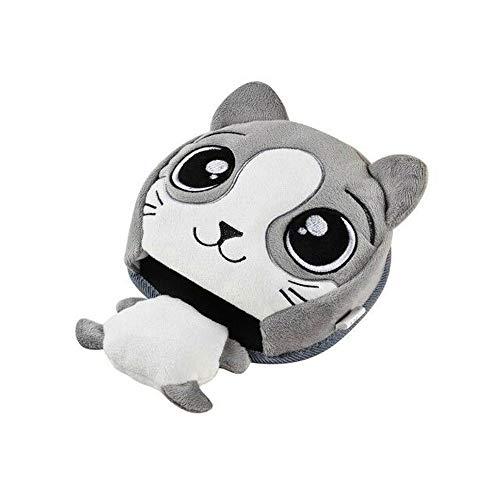 Alfombrilla de ratón con diseño de animales de dibujos animados con calentador de manos y protector de muñeca
