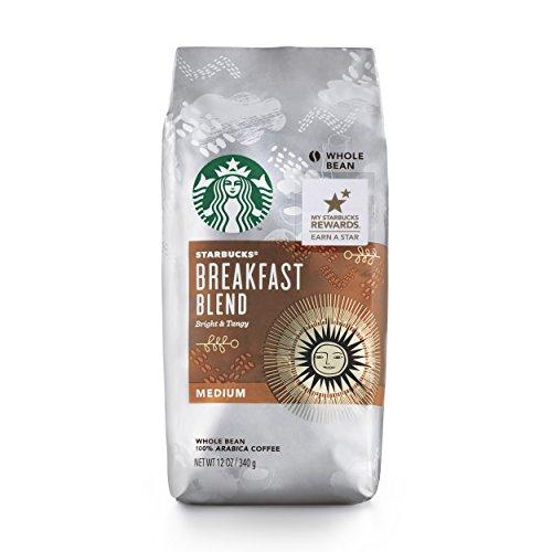 Starbucks Breakfast Blend Coffee, Whole Bean, 12 Ounce (Pack of 6)