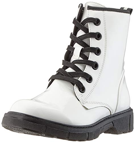 MARCO TOZZI Damen 2-2-25282-23 Biker Boots, Weiß (White Pat.Comb 190), 39 EU