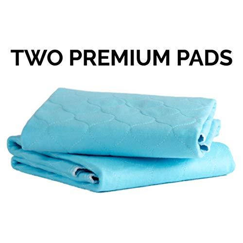 Herbruikbare wasbare hondenpasteitjes van Pet Impact | Premium Large Puppy Training Pads, 2 Pad Box, Blauw