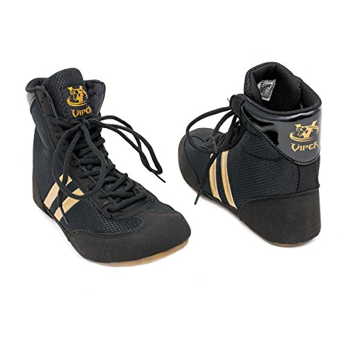 Boxing Boots Mens Boys Boxing Footwear Boxing Shoes (3 UK) Black