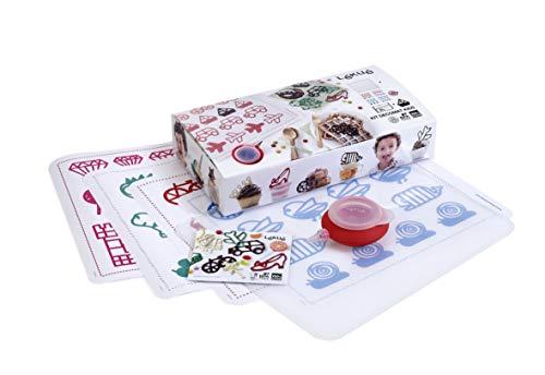 Lékué Decomat Kids - Kit infantil para decorar con figuras de chocolate, multicolor