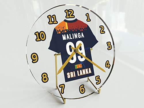 MyShirt123 International Cricket Jersey Desktop Uhren–Jeder Name, beliebige, jedes Team, kostenlose Personalisierung. Sri Lanka International Cricket Team