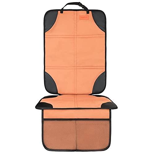 Protector de asiento de coche impermeable 600D grueso con base antideslizante para asiento de coche (1 paquete, marrón claro)
