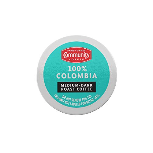 Community Coffee 100% Colombian, 72 Count, Medium-Dark Roast, Single Serve K-Cup Compatible Coffee Pods, Box of 72 Pods