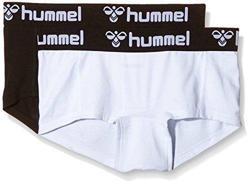 Hummel Damen Shorts Hers 2-Pack Mini Hotpants, Black/White, XS