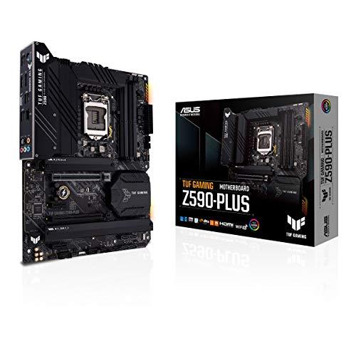 ASUS TUF Gaming Z590-PLUS - Placa Base (Intel Z590, LGA 1200, ATX con VRM de 16 Fases DrMOS, PCIe 4.0, 3 M.2, 2,5 GB Ethernet, HDMI, DisplayPort, USB 3.2 Gen. 2x2 Tipo C y Aura Sync)