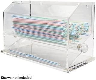 Winco ACSD-712 Acrylic Straw Dispenser