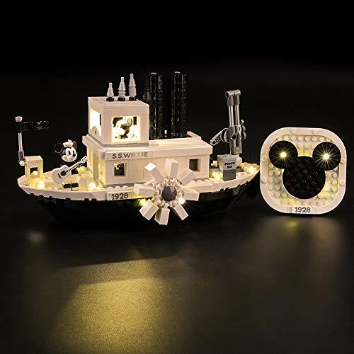 LIGHTAILING Licht-Set Für (Mickey Mouse Steamboat Willie) Modell - LED Licht-Set Kompatibel Mit Lego 21317(Modell Nicht Enthalten)