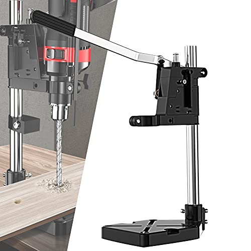 LXX Drill Press Stand Benchtop, Bench Drill Press Stand, Drill Press Stand for Hand Drill, Adjustable Benchtop Drill Presses for Home DIY and Professional Repairs