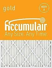 Accumulair Gold 24x30x1 (23.5x29.5) MERV 8 Air Filter/Furnace Filter (2 Pack)