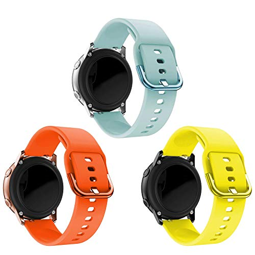 kitway Correa Compatible Galaxy Watch Active Active2 Galaxy Watch 42mm Gear S2 Classic, Silicona Replacement Correa para Galaxy Watch Active (40mm) Active 2 40mm 44mm Galaxy Watch 3 41mm Smart Watch