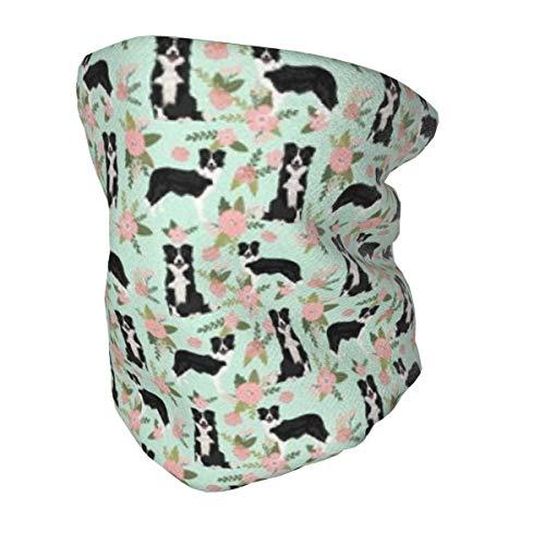 Bandana protectora para el cuello con protección UV para niños, Border Collie Pet Coordinate Dog lavable reutilizable cara cubierta antipolvo viento pasamontañas para pesca senderismo