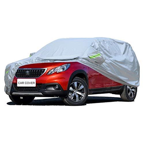 Copriauto Car Cover Compatibile con Peugeot 2008 Auto Protettiva Copertura Auto Impermeabile Telo Copriauto per Auto Resistente Ai Raggi UV Antivento E Antipolvere per Tutto Il Giorno