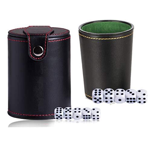 Cubilete Dados Poker Cuero Fournier Marca dancepandas