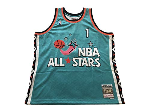 Mitchell & Ness Men's Anfernee Penny Hardaway #1 Hardwood Classics Throwback All-Star Jerseys Swingman Jersey (X-Large, Teal 1996)