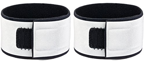 Reflective Wristbands (Pair) - Specifically Designed for Wrists - Bright, Comfortable, Lightweight, Neoprene - Large Reflective Area - High Visibility Straps for Running, Cycling, Walking