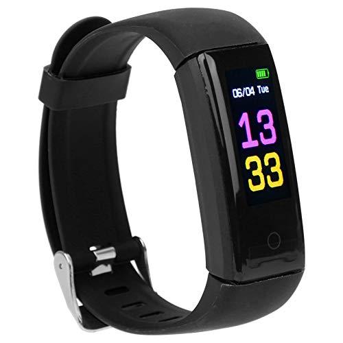 DAUERHAFT Reloj de Pulsera Deportivo, podómetro multifunción Smart Band Gestión Saludable del Estado físico, con Monitor de frecuencia cardíaca, Carga USB, para Android5.0 / IOS8.0 y Superior(Negro)