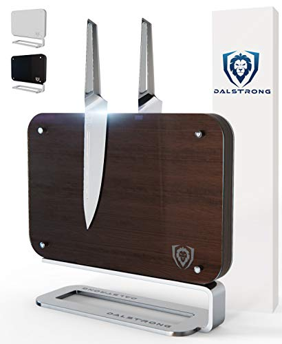 DALSTRONG Magnetic Blade Wall - Double-Sided - Compact Knife Storage & Display Stand - Acacia Wood - 14.5' x 11.7' (Sequoia Brown)