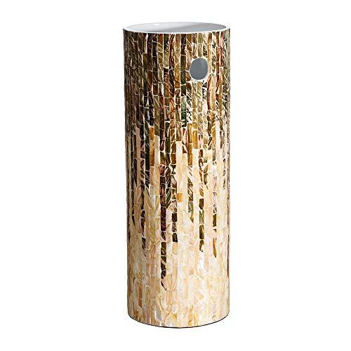 Paragüero rústico marrón de nácar Redondo de 57x20x20 cm - LOLAhome
