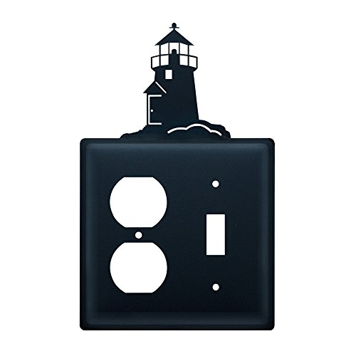 Village Wrought Iron EOS-10 Lighthouse Outlet and Switch Cover - Black