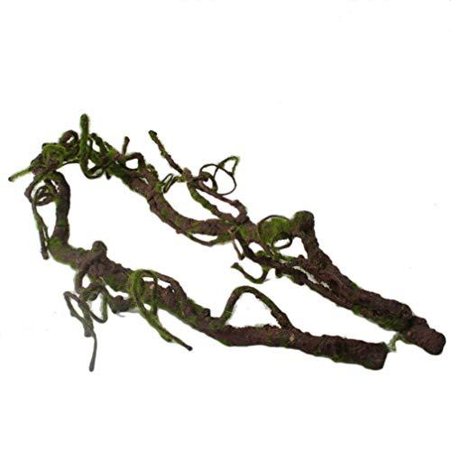 POPETPOP Repital Klettern Dschungel Vine Dschungel künstliche Zweig Terrarium Käfig Dekor (Typ U)