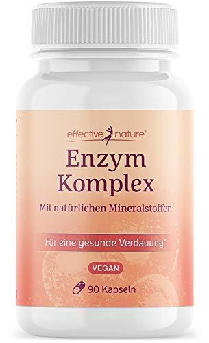Enzymkomplex ? mit Magnesium und Calcium - Mit 8 Verdauungs- und Nahrungsenzymen - Ohne Zusatzstoffe - Vegan - 90 Kapseln