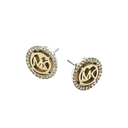 1 with 2 In. Width The Michael Kors logo in gold-tone makes for a perfectly chic stud earring. Made in China