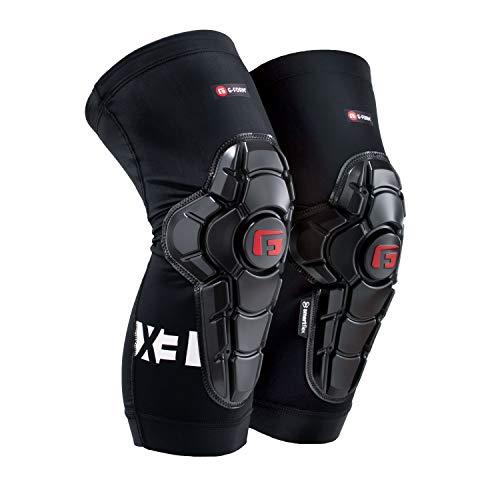 G-Form Pro-X3 - Ginocchiere per Mtb Bmx Dh, ciclismo, snowboard, skateboard, calcio, colore: Nero