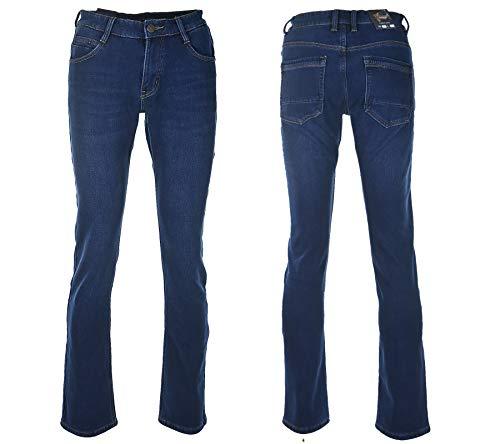 VIMAN Denim Herren Jeans Übergröße Warme Winterhose Thermohose Winterjeans Gefuttert W30-W38 Blau Schwarz (Blau, W32/L33)
