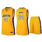 # 24 Kobe Bryant Los Angeles Lakers Unisex sin Mangas Camiseta-Hombres Baloncesto Jersey Entrenamiento Traje de Niños Sudadera Bordado Conjunto S-5XL